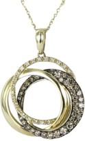 LeVian Le Vian Chocolatier 34639-YPPM 3 14K Yellow Gold Chocolate 0.71 Ct Diamond Intertwining Circle Pendant Necklace