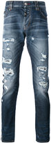 Philipp Plein distressed slim-fit jeans - men - Cotton/Polyester/Spandex/Elastane - 31