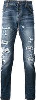 Philipp Plein distressed slim-fit jeans - men - Cotton/Polyester/Spandex/Elastane - 31