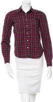 Steven Alan Long Sleeve Plaid Button-Up Top