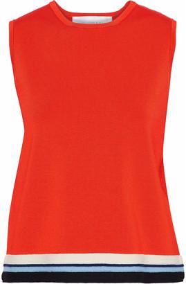 Victoria Victoria Beckham Striped Stretch-knit Top