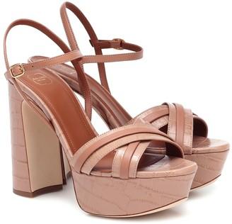 Malone Souliers Mila 125 leather platform sandals