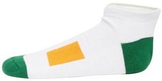 Donegal Bay Irish St Patrick's Day White No Show Footie Socks
