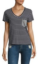 Stateside Striped Patch Pocket Tee