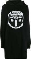 MM6 MAISON MARGIELA logo-print hoodie dress