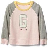 Gap Logo raglan crew sweatshirt