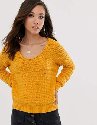 Abercrombie & Fitch scoop knit jumper-Yellow