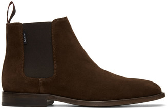 Paul Smith Brown Suede Gerald Chelsea Boots