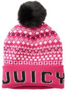 Juicy Couture Women's Fairisle Pom-Pom Beanie
