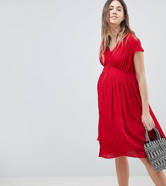 ASOS DESIGN Maternity Casual Midi Tea Dress