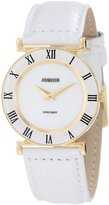 Jowissa Women's J2.027.M Roma 30mm Gold PVD Leather Roman Numeral Watch