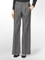 Calvin Klein Crosshatch Patterned Wide Leg Pants