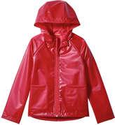 Joe Fresh Kid Girls' Hooded Rain Jacket, Red (Size M)