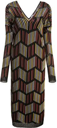 M Missoni geometric sweater dress