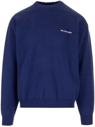 Balenciaga Logo Embroidered Sweatshirt