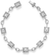Bloomingdale's Diamond Baguette and Round Bracelet in 14K White Gold, 3.0 ct. t.w. - 100% Exclusive