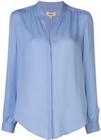 L'Agence mandarin collar silk blouse