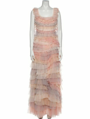 Needle & Thread Scoop Neck Long Dress w/ Tags Pink