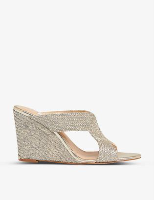 LK Bennett Sonia rope wedge sandals
