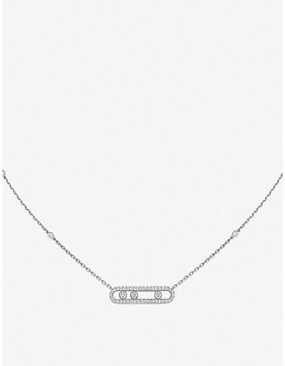 Messika Baby Move Pavé 18ct white-gold and diamond necklace