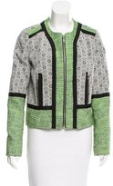 Rebecca Minkoff Collarless Patterned Jacket