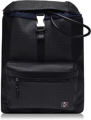 Tommy Hilfiger Monogram Flap Backpack