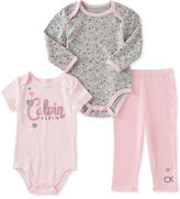 Calvin Klein 3-Pc. Bodysuits & Leggings Set, Baby Girls (0-24 months)