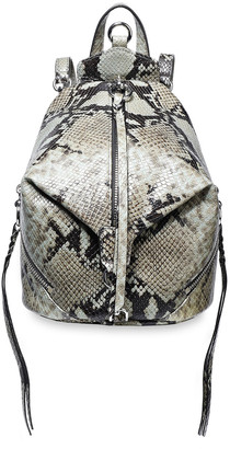 Rebecca Minkoff Julian Convertible Snake-effect Leather Backpack