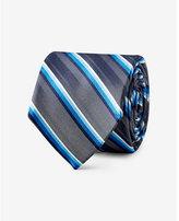 Express diagonal stripe narrow silk tie