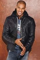 Mens Superdry Black Leather Jacket