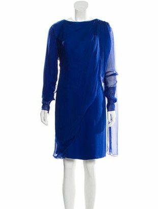 Lanvin Silk Knee-Length Dress blue