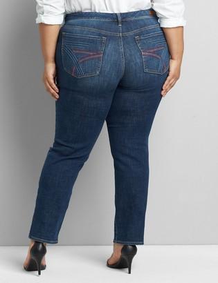 Lane Bryant Seven7 Low-Rise Straight Jean - Dark Wash