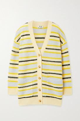 Acne Studios Keda Striped Knitted Cardigan - Yellow