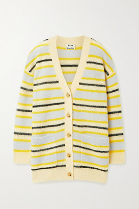 Acne Studios Striped Knitted Cardigan - Yellow