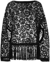Valentino oversized lace top