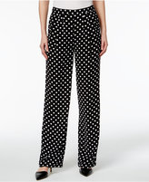 MICHAEL Michael Kors Polka-Dot Wide-Leg Pants