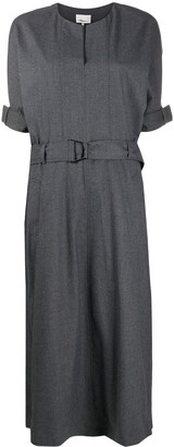 3.1 Phillip Lim Belted Wool-Blend Midi Dress