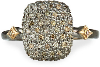 Armenta Cuneto Diamond Pave Cushion Ring, Size 6.5