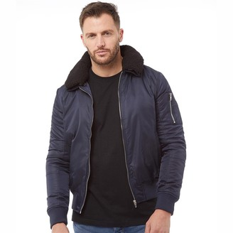 French Connection Mens MA Sherpa Jacket Marine