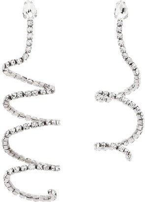 Area Crystal Spiral Earrings