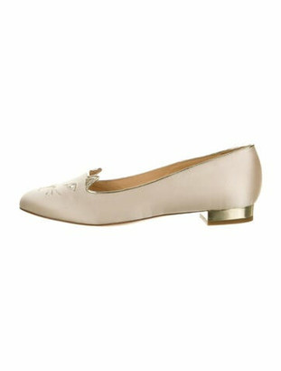 Charlotte Olympia Embroidered Accent Loafers