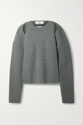 Frankie Shop Knitted Cardigan And Tank Set - Gray
