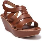 Camper Damas Platform Leather Wedge Sandal