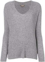 N.Peal ribbed V-neck sweater