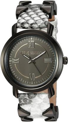 Steve Madden Women's Japanese-Quartz Watch with Leather-Synthetic Strap Multi 21 (Model: SMW038BK-M1)