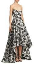 Zac Posen Garden Jacquard Hi-Lo Gown