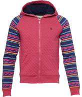 Original Penguin Girls Raglan Quilted Hoody Pink Flambe