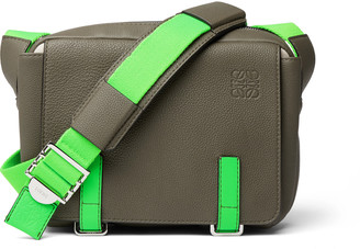 Loewe + Paula's Ibiza Full-Grain Leather Messenger Bag