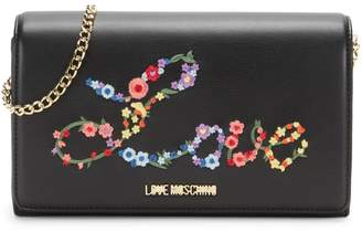 Love Moschino Floral Love Faux Leather Crossbody Bag