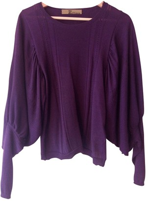 John Galliano Purple Cashmere Knitwear